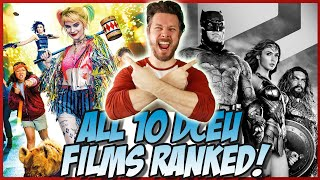 All 10 DCEU Films Ranked (w/ Zack Snyder's Justice League)