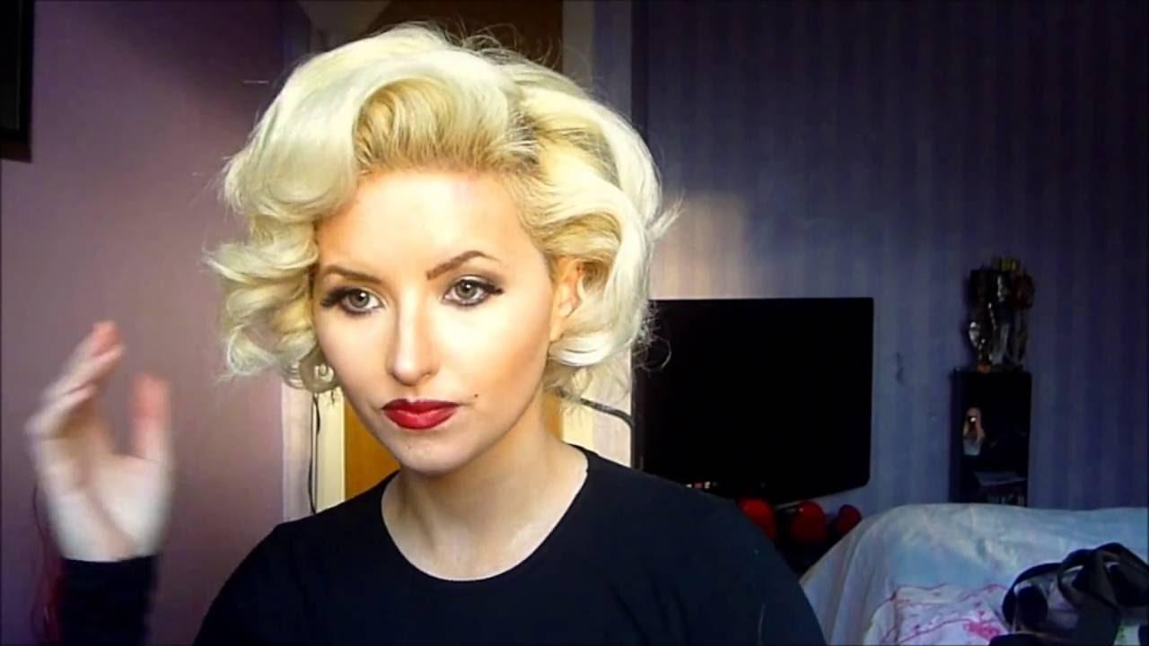 vintage marilyn monroe pin curls hair tutorial