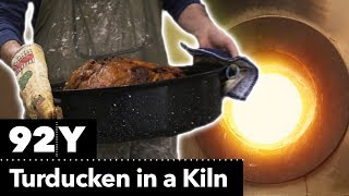 This is how you make an epic Turducken in a kiln