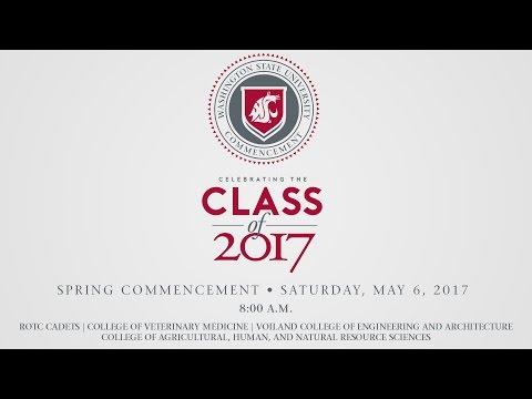 WSU Commencement • Spring 2017 • 8:00am Ceremony