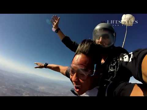 Lifestyles San Diego goes Skydiving and Hits some Bars by the Beach