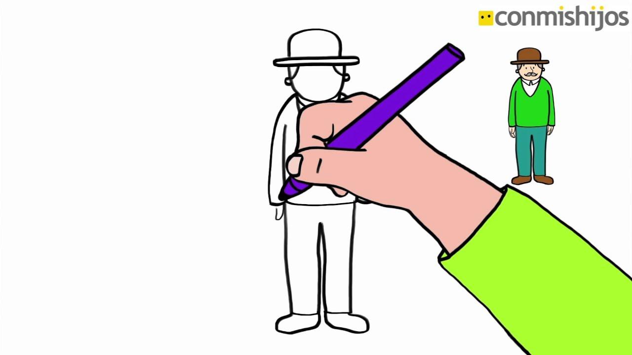 Aprende A Dibujar Un Anciano Dibujos Para Niños