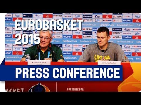 Lithuania v Georgia - Post Game Press Conference - Eurobasket 2015