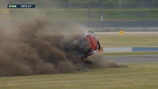 DTM 2018. Race 1 EuroSpeedway Lausitz. René Rast Huge Crash thumbnail