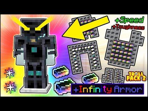 CRAFTING THE BEST ARMOR IN MINECRAFT +9999 SPEED & ARMOR   TROLL PACK SEASON 2 #26 (Minecraft)