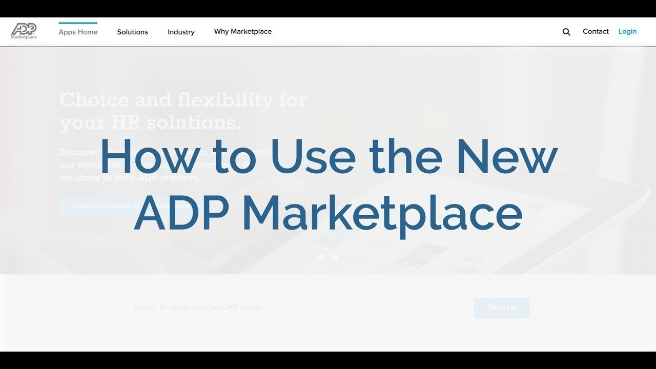 How to Use the New ADP Marketplace