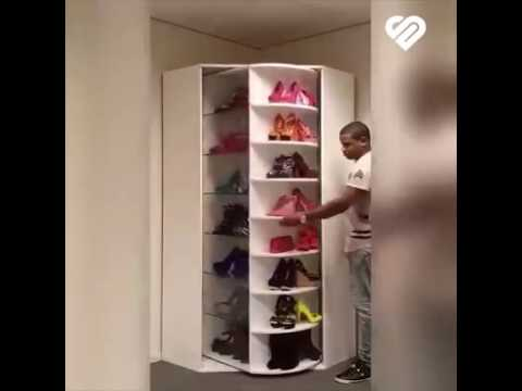 Muebles para zapatos  YouTube