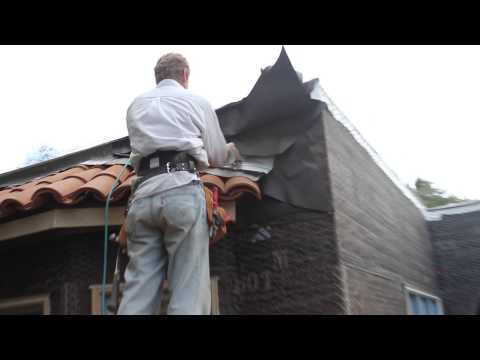 How to counter flash a terra cotta tile roof