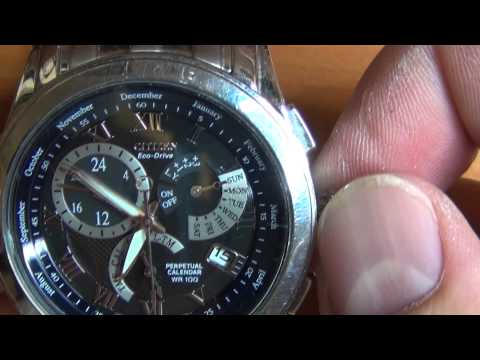 Wrist Watch Review: Part 3 - Citizen Eco-Drive Perpetual Calendar WR 100 - Calibre 8700