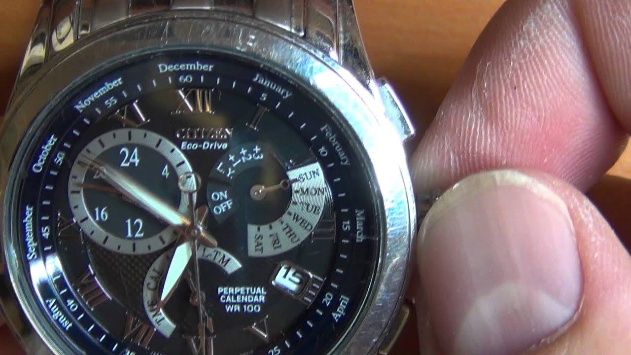 Wrist Watch Review Part 3 Citizen Eco Drive Perpetual Calendar Wr 100 Calibre 8700 You