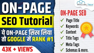 Learn Complete OnPage SEO for Beginners Full Tutorial in Hindi