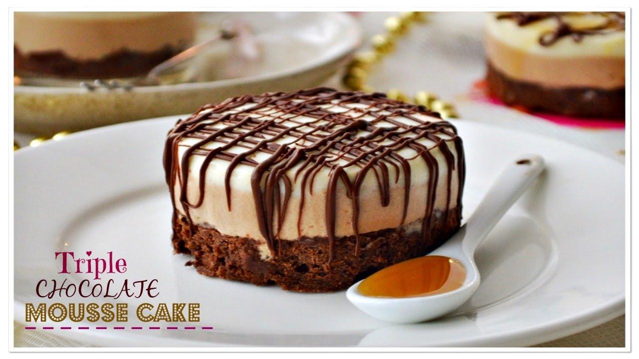 Triple Chocolate Mousse Cake Joy Baking