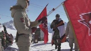 Военные игры зажгли огонь на Эльбрусе