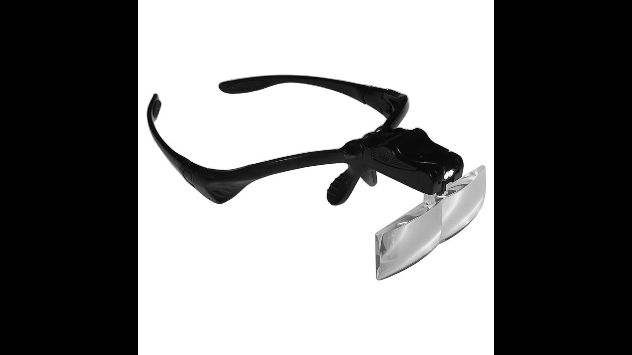 1770ec374 Óculos Lupa de Cabeça com 5 Lentes luz LED Profissional - YouTube