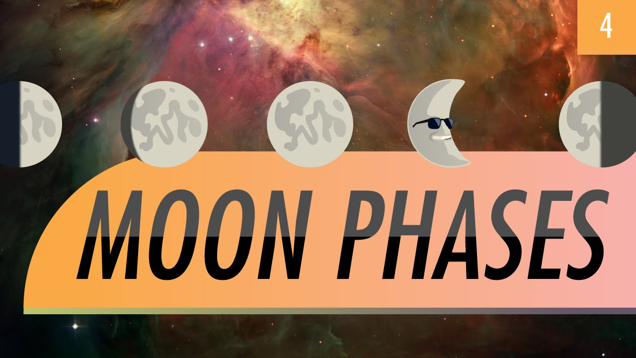 hight resolution of Moon Phases: Crash Course Astronomy #4 - YouTube