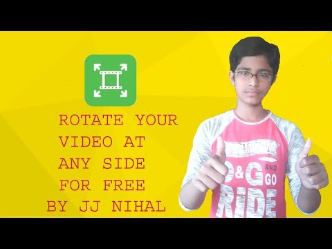 How to rotate your videos II free and fastest video software II by JJ NIHAL