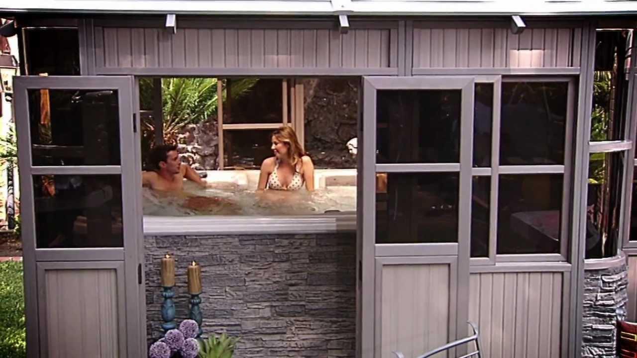 Cal Spas Hot Tubs Spas and Swim Spas for Sale Cal Design Spa Wraps and Gazebos  YouTube