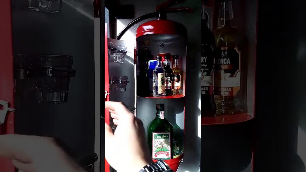 diy fire extinguisher mini bar youtube. Black Bedroom Furniture Sets. Home Design Ideas