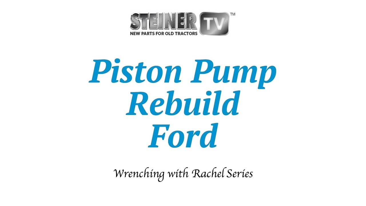Piston Pump Rebuild Youtube 7740 Ford Tractor Wiring Harness Kits