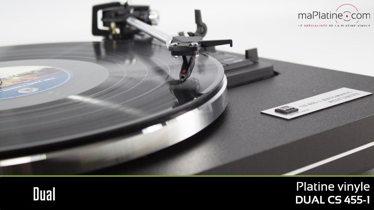 zoom sur la platine vinyle dual cs 455-1 - youtube