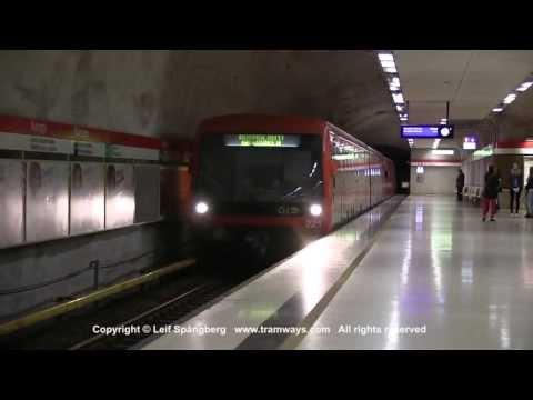 HKL / HST Metro trains at Kamppi / Kampen, Helsinki, Finland
