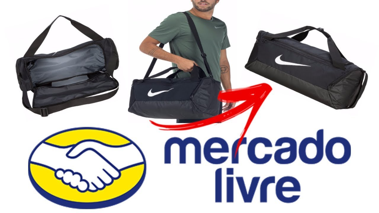 MALABOLSA NIKE DUFFEL BRASÍLIA MÉDIA 60L | Unboxing Mercado Livre
