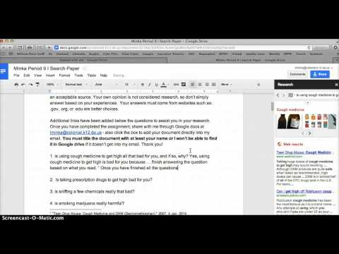 My 1st Screencast on I Search Paper