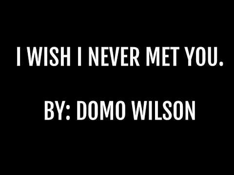 I Wish I Never Met You- By Domo Wilson (LYRIC VIDEO)