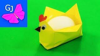 как сделать из бумаги подставки для яйца