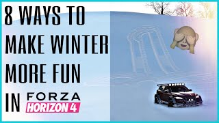 Forza Horizon 4 | 8 FUN THINGS YOU NEED TO TRY IN WINTER + How to change seasons on PC
