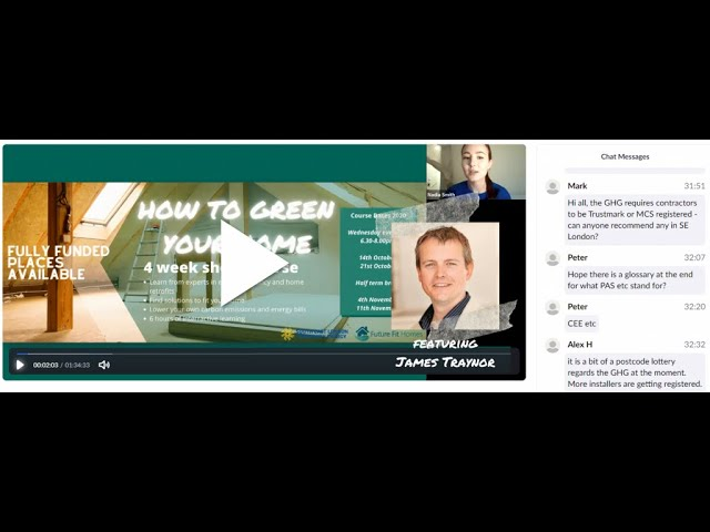 Introduction to Energy Efficiency - How to Green Your Home Webinars