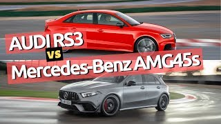 2019 Audi RS3 vs 2020 AMG A45 s | Quick comparison | Which one is your favourite?