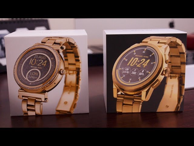 26fe1f0286 Unboxing the Michael Kors Sofie and Grayson luxury smartwatches  Video  -  9to5Google
