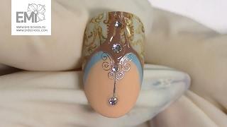 Мастер-класс дизайн ногтей, слайдеры Naildress, идея маникюра весна 2017