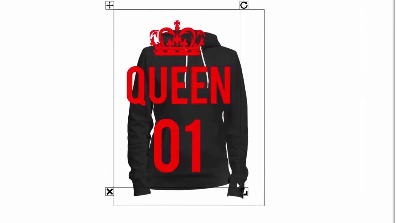 King und Queen Hoodie selber gestalten - YouTube 9733205574