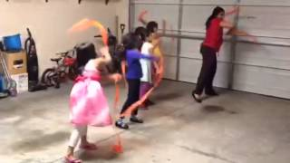 Kids ribbon dance 1