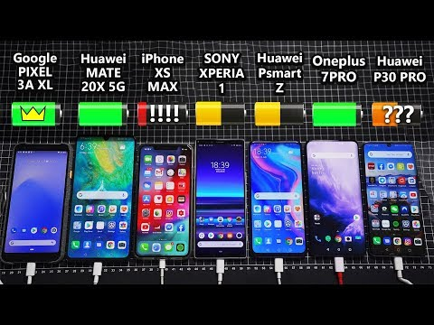 Sony Xperia 1 / Oneplus 7 Pro / Huawei Mate 20x 5G / Pixel 3a XL / P30 Pro Battery Life DRAIN TEST