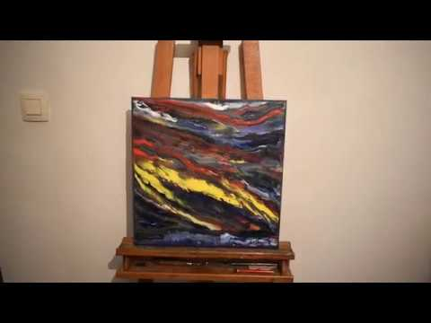 abstract painting  colors of light by joky kamo painting modern