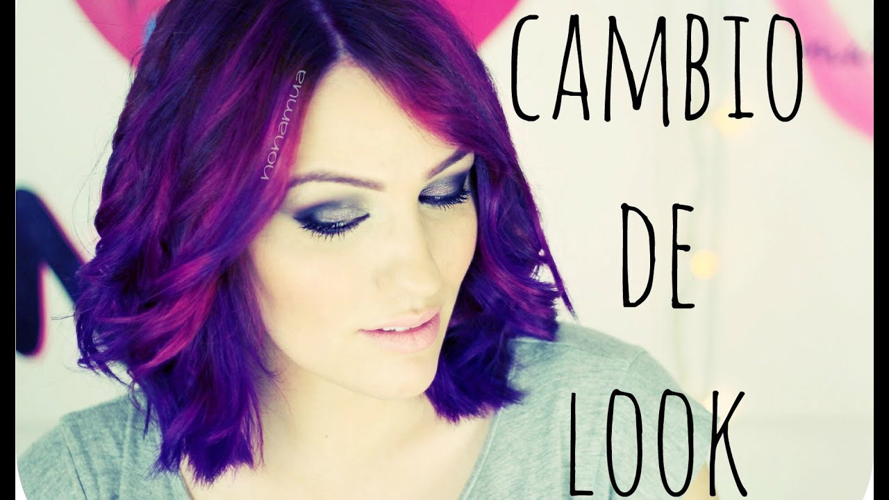 Cabello de color rosa y morado