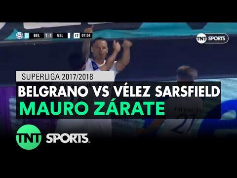 Mauro Zárate (1-1) Belgrano CBA vs Vélez Sarsfield | Fecha 16 - Superliga Argentina 2017/2018