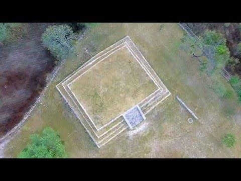 Ruinas Arqueologicas Cuitzeo Michoacan vista aérea Drone Phantom