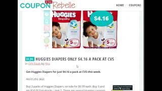 How to Coupon at CVS - Huggies Diaper Deal CVS