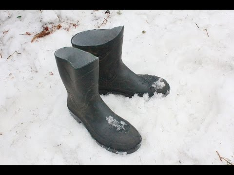 How-to Fix Rubber Boots For Cold Weather Tutorial