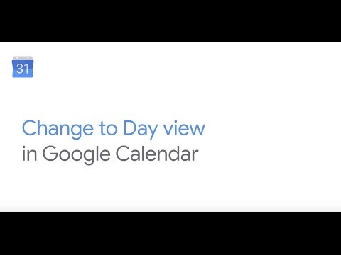 Go to day view in Google Calendar