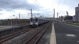 JR九州 415系FM1515編成ドア窓更新車 八幡駅 発車 2017年12月9日