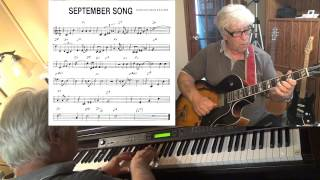 September Song (2) - guitar & piano jazz cover - Yvan Jacques