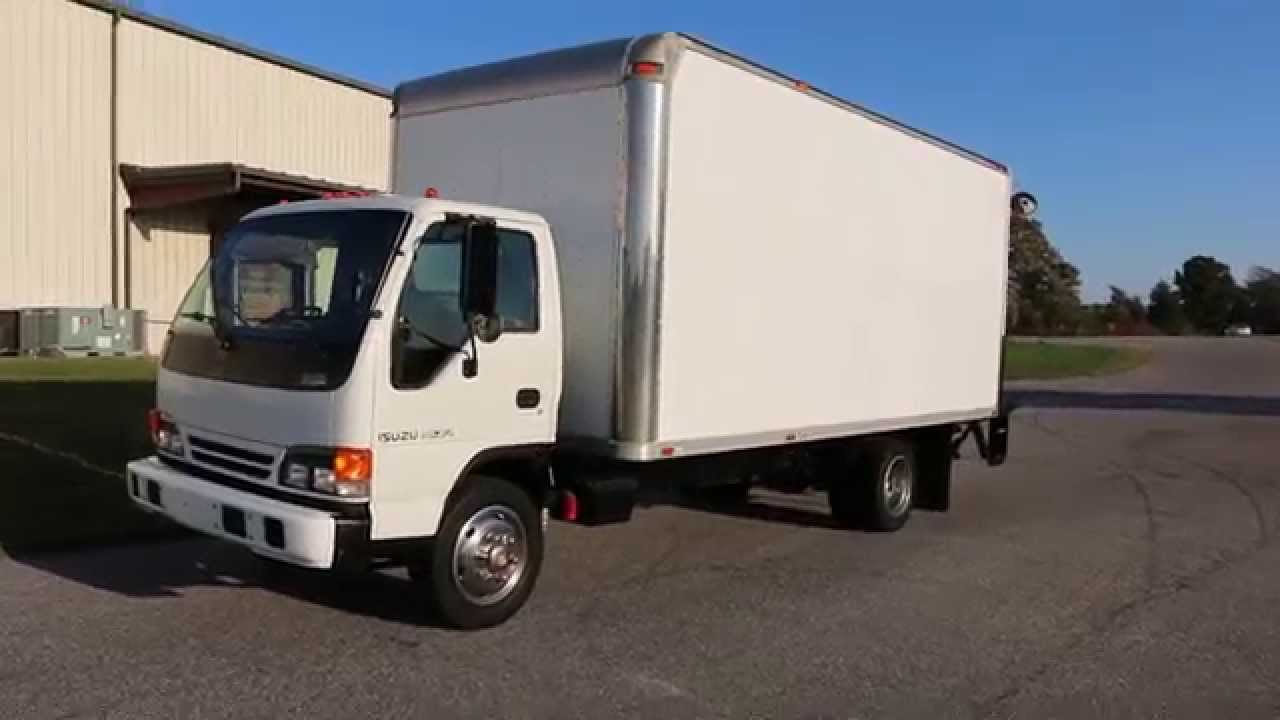 2005 isuzu nqr 19 box truck for sale power lift gate low miles ready 2 work  [ 1280 x 720 Pixel ]