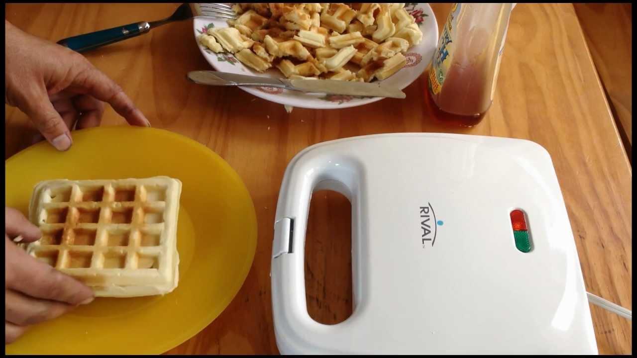 How To Make Waffles Using Waffle Iron Mix Hd Waffles Youtube