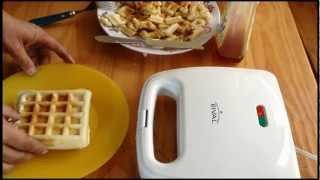 How to make Waffle's   Using Waffle Iron & Mix    HD Waffle's!!!