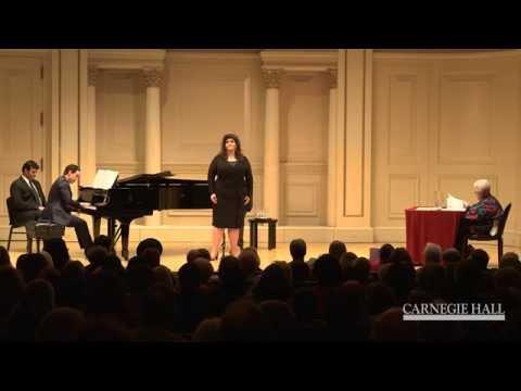 "Carnegie Hall Vocal Master Class: Strauss's  ""September,"" from Vier letzte Lieder"